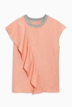 Buy Blush Frill Front Tee from the Next UK online shop