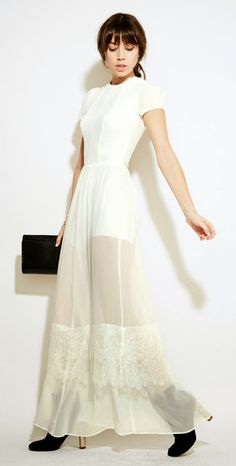 Romantic illusion dress by Folk  Fables: Sustainable Fashion Brand Reformation.