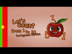 Numbers Song in Portuguese - How to count from 1 to 10 in portuguese - 123-Song learn brazilian - YouTube
