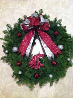 Washington state cougars wreath