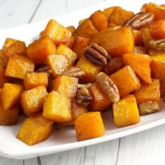 Butternut squash is a versatile fall vegetable– it can be made sweet or savory. Plus it's easy to work with, especially when roasting.