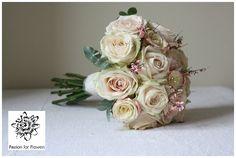 Blush Pink Roses ~ Wedding Bouquet #wedding #flowers www.passionforflowers.net
