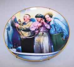 "THE THREE STOOGES""Rub a Dub Dub""  FRANKLIN MINT 3 STOOGES PLATE"