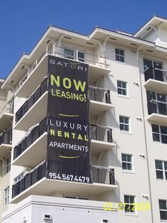 Large scale apartment banner