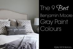 The best Benjamin Moore gray and charcoal paint colours and undertones. Including Gray Owl, Revere Pewter and Chelsea Gray