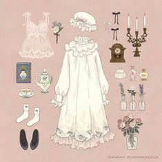 fashion sketches how to draw Vintage Fashion Sketches, Kleidung Design, Estilo Lolita, Fuchsia, Drawing Clothes, Anime Outfits, Character Outfits, Lolita Fashion, Designs To Draw