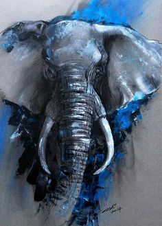 Ausgezeichnet Arti Chauhans Moon River Urfassung - New Ideas Cute Paintings, Animal Paintings, Animal Drawings, Art Drawings, Elephant Drawings, Elephant Paintings, Elephant Artwork, Elephant Canvas Painting, Tiger Painting