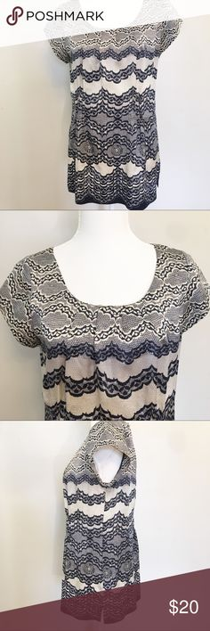 24c3ba7a7aa CAbi #817 Chantilly lace silk tunic size L CAbi #817 Chantilly lace silk  tunic