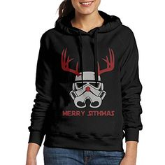 JAM CHEN Funny Christmas Womens New Hoodies Black L * You can get more details by clicking on the image.(This is an Amazon affiliate link)