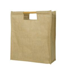 Large Eco-friendly Grocery Bag Jute/Burlap Tote with cane handles