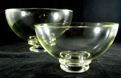 Rare Vintage Sinclaire RADNT Ware Yellow Pressed Glass Mixing Bowls Dunkirk NY  #RADNTWare