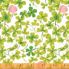 Briar Rose 37026-6 Pink Cricket Clover by Heather Ross for Windham