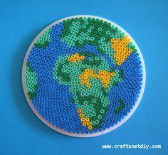 Perler patterns : Earth  by Craftsnet Diy