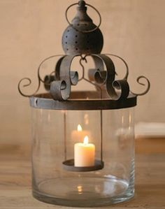 french candle lantern, so beautiful!