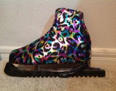 Metallic Print ANKLE HIGH COVERS for shoes boots roller skates figure skates-Many Colors to Choose From