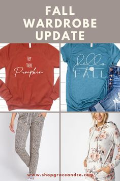 Find comfy new arrivals for your fall wardrobe! Grace And Co, Fall Pumpkins, Fall Wardrobe, Comfy, Boutique, Sweatshirts, Sweaters, Fashion, Moda