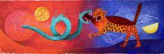 El mural fue realizado en 1964 por Rufino Tamayo y representa a Quetzalcoatl, la serpiente emplumada y a Tezcatlipoca, espejo humeante, quienes son dualidad y antagonía, ambos dieron origen al mundo. Este es uno de los murales más bellos que existen en nuestra ciudad, lleno de color y de magia, que nos cuenta una pasaje de nuestra mitología, preámbulo a nuestro viaje al pasado e inevitable conclusión del mismo, en el Museo de Antropología.