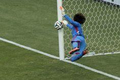 Memo Ochoa goalkeeper  from MEXICOworld cup brazil 2014   WOW.