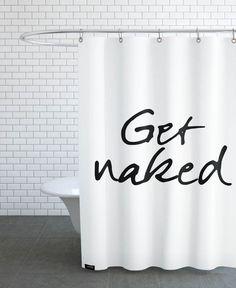 Get Naked als Duschvorhang von JUNIQE | JUNIQE