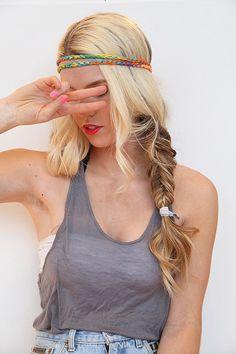 Neon Headband Tie Dye Yarn Hair Band Boho Style Elastic Stretch Hairwrap on Etsy, $5.50