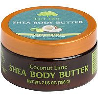 Experience Tree Hut Body Butter with the tropical scent of Coconut Lime. This extra thick body butter, infused with Certified Shea Butter, Cocoa Butter, and Safflower Seed Oil, was designed to help soften rough skin and provide deep hydration. Shea Butter Face, Cocoa Butter, Tree Hut, Natural Moisturizer, Anti Aging Cream, Skin Care, Lime, Moisturizers, Lima