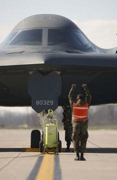 B2, Stealth Bomber. This is the spirit of Missouri, I've been in her. Not many can say that.