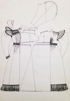 1820er Tageskleid