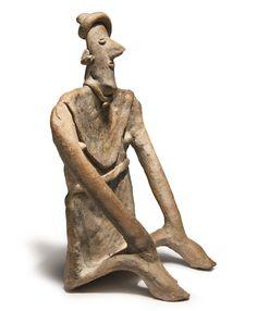 Colima seated figure, 350 - 100 BC