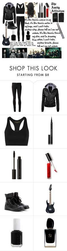 """""""Pittsburgh - The Amity Affliction"""" by shelleystromberg ❤ liked on Polyvore featuring rag & bone/JEAN, Lucas Hugh, Givenchy, Forever 21, Converse, Essie, Giorgio Armani and AGNELLE"""