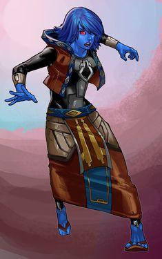 Chiss Lady SWTOR by Aliens-of-Star-Wars.deviantart.com on @deviantART