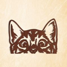 Cat Lover Gifts, Cat Gifts, Cat Lovers, Plasma Cnc, Cute Cat Face, Cricut, Cute Black Cats, Animal Faces, Clipart