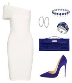 Untitled #416 by nadiralorencia on Polyvore featuring polyvore fashion style Michelle Mason Christian Louboutin Hermès Effy Jewelry clothing