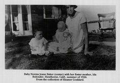 NJ Norma Jean Marilyn Monroe, The Neighbor, Foster Mom, Foster Family, Hollywood, Foster Parenting, Norma Jeane, How To Pose, Little Babies