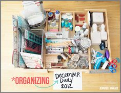 she makes stuff...: December Daily 2012 | organization