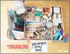 she makes stuff...: December Daily 2012   organization
