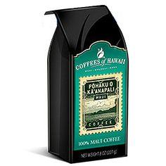 Pohaku O Ka'anapali All Purpose Grind Coffee 8 oz Hawaiian Coffee, Sauce Bottle, Purpose
