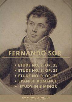 35 - Fernando Sor Upgraded Tabs Spanish Romance Upgraded Tabs Study in B minor Upgraded Tabs Classical Guitar Sheet Music, Music Tabs, B Minor, Easy Guitar, Romance, Movie Posters, Musica, Romance Film, Romances