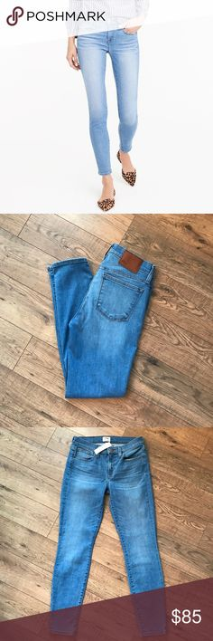 """NWT J. Crew Toothpick Jeans NWT skinny jeans in chimney wash. Size 27 with a 28"""" inseam and 8"""" Rise. Gorgeous light wash jeans and are a must have!  No flaws. From Spring '17 Collection. J. Crew Jeans Skinny"""