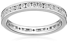 Kobelli 1 cttw Round Diamond 14k White Gold Eternity Band, Size *** You can get additional details at the image link.