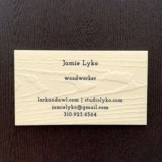 Contemporary Blind Debased Business Card Printed By Cottonpaperie
