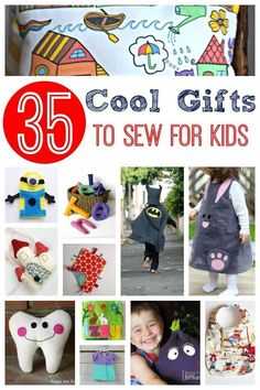 Get inspired with this collection of over 35 gifts to sew for kids, made by real mums and loved by their children!