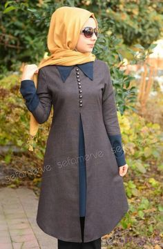 like the color combo Abaya Fashion, Modest Fashion, Fashion Dresses, Muslim Dress, Hijab Dress, Moslem Fashion, Modest Wear, Islamic Clothing, Beautiful Hijab