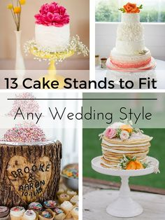 13 Cake Stands to Fit every weddings style