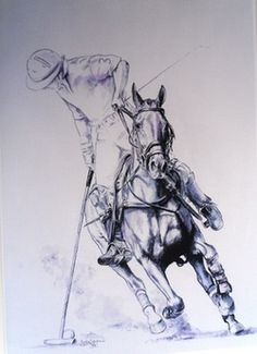 Blacklocks Polo Art - Touching The Ground Horse Drawings, Animal Drawings, Drawing Animals, Polo Horse, Flowery Wallpaper, Snow Photography, Le Polo, Cute Horses, Stickers