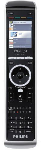 Philips SRU8015/37 Prestigo 15 Device Universal Remote by Philips. $102.99. 15-Device Universal Remote Easy-To-Read Backlit Color Lcd Display Extensive Infrared Code Database For Most Devices Large Library Of Channel Icons For Easy Selection Activity-Based User Interface. Save 43%!