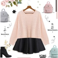 Yoins V: CROPPED SWEATER