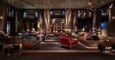 Coltrane Modern Suspension Lamp at Paramount Hotel New York by @delightfulll http://bit.ly/LWnoM8
