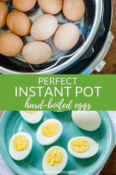 Instant Pot hard boiled eggs are the easiest way to hard cook eggs so they peel perfectly every time! Once you hard boil eggs in the Instant Pot, you'll never go back to using the stove top. Here's how to make hard-boiled eggs using the Egg Function on Instant Pot Lux, Duo Plus, and Ultra. #instantpot #eggs #paleo #lowcarb #keto #whole30 #cookeatpaleo