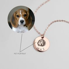 Personalized Necklace Pet Portrait Dog Necklace Pet Gift Dog Mom Dog Memorial Gift Personalized Jewelry Pet Memorial – Only One