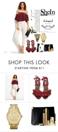 """""""Untitled #644"""" by elma-alibasic ❤ liked on Polyvore featuring Michael Kors and Yves Saint Laurent"""
